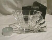 Rosenthal Clear Crystal Studio Line Votive Candle Dish Bowl Germany w/ Box