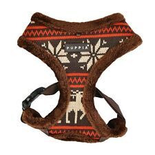 Puppia - Dog Puppy Harness - Reindeer Prancer w. Smart Tag - Brown - S, M, L, XL