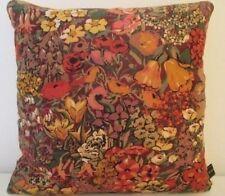 Liberty Cottage Garden Linen & Gold Velvet Fabric Vintage Retro Cushion Cover