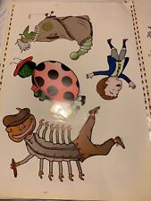 VINTAGE THEATRE WINDOW CLING PAGE JAMES AND THE GIANT PEACH