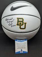 "BAYLOR BEARS SCOTT DREW signed autographed ""CHAMPS"" BASKETBALL BECKETT COA (BAS)"