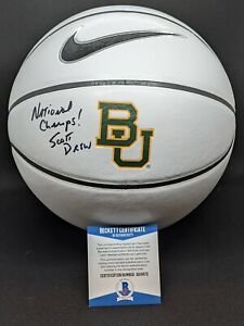 "BAYLOR BEARS SCOTT DREW signed autographed ""CHAMPS"" BASKETBALL BECKETT COA (BAS)"