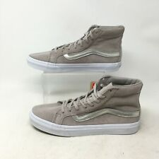 NEW Vans Sk8-Hi Slim Classics Sneakers Perforated Suede Grey Mens 8 Womens 9.5