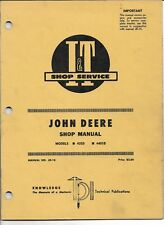 I&T Shop Service Manual for John Deere Models 435D 4401D Tractor Manual # Jd-18