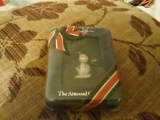 Vintage Attwood And Sawyer (A&S) Goldtone & Crystal Snowman Brooch In Sealed Box