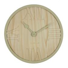Hometime 31cm Horloge Quartz Mural Couleur Claire Bois Look Façade Surélevé