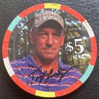 PARAGON CASINO CHIP $5 2012 TROY LANDRY Cajun Swamp Man MARKSVILLE LA Near Mint