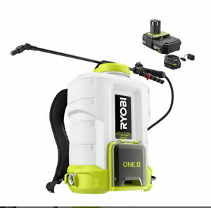 Ryobi P2860 Backpack Chemical Sprayer 18V ONE+ 4Gal. W/ Battery & Charger - New!