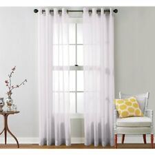 "HLC.ME Panels Piece Sheer Window Curtain Grommet Panels, Total Width 108"" 84"" Cm"
