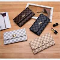 New Fashion Clutch Women Long Leather Wallet Card Hold Phone Bags Handbag Purse
