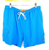 Tommy Bahama Naples Coast Swim Trunks UPF 30 Santorini Blue 2XLB New $85