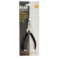 PL658 Beadsmith Super Fine Bent Chain Nose Pliers w//Spring Item No 1 pc.