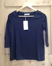 Zara Hip Length No Pattern Crew Neck Tops & Shirts for Women