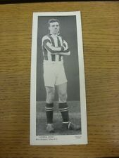 circa 1930's Topical Times: West Bromwich Albion - George Shaw [Black & White Pa