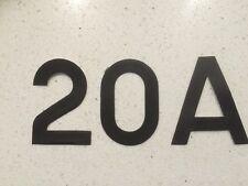 10 x 50mm vinyl stickers wheelie recycle green waste bin mailbox house numbers