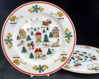 Jamestown THE JOY OF CHRISTMAS 2 Dinner Plates no signs of use GREAT CONDITION