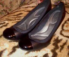 Deflex by Dexter Size 9 Black Patent Leather High Heel/Shoe/Comfort
