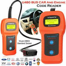 U480 Scanner Car Fault Code Reader CAN BUS OBD2 EOBD Engine Diagnostic Tool