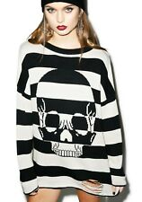 New Iron Fist Urban Decay Striped Long Sleeve Sweater Sz XL