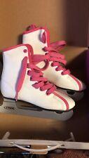 Dbx Girls Pink & White Training Ice Skates Size 10 J New
