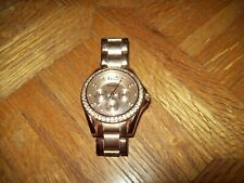 FOSSIL Riley Women's Wristwatch ROSE-TONE ROSE GOLD 10 ATM Running