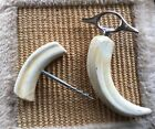ANTIQUE VINTAGE WILD BOAR'S TOOTH CORK  AND BOTTLE OPENER Marked ITALY