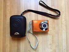 Kodak EasyShare C140 8.2 MP 3x Optical Zoom Lens Orange UVGC w/Samsonite Case
