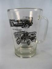 Antique 1920s Cars Automobiles Heavy Clear Glass Pitcher Without Spout Or Mug O