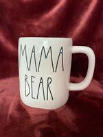 "New Rae Dunn ""MAMA BEAR"" Mug.. 2 Sided Blue Inside New 2021"
