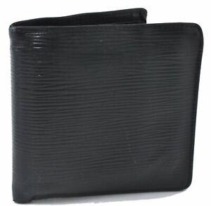 Authentic Louis Vuitton Epi Portefeuille Marco Wallet Black LV D5471