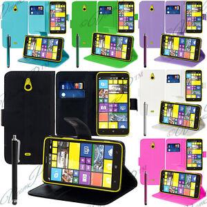 Accessoires Etui Housses Coque Cuir PU Vrai Portefeuille Video Serie Nokia Lumia