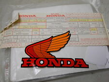 Honda NOS ATC200, 1983-84, Left Fuel Tank Label, # 87122-965-000   b.