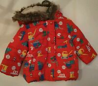 Mothercare Boys Red Puff Coat, Aged 6-9 Months