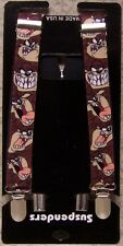 "Suspenders Children & Junior 1""x36"" FULLY Elastic Tazmanian Devil NEW Made USA"