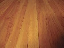"1:12 Scale Dark Oak Finish Wood Strip Flooring Dolls House 18"" x 12"" Accessory"