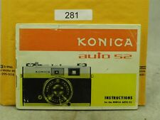 Konica Auto S2 Original Instruction Manual In English