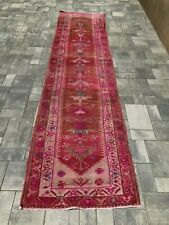 "Turkish Wool Runner, Vintage Hand Knotted Soft Pile 11'7""x 2'9"", FREE SHIPPING!"