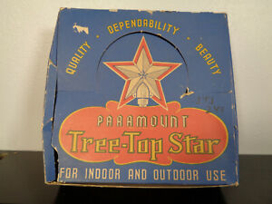 Vintage Christmas Paramount Tree-Top Star No. 720 Working, in Original Box