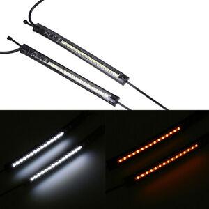Pair Motorcycle Flexible LED 12V Fork Light Strips Turn Signal Light Universal
