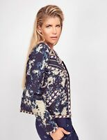 Women's SOLITO AUSTRALIA size Large L Navy Desert Diamond Quilted Jacket NEW NWT