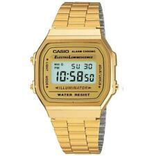 Casio A168WG-9WDF Illuminator Unisex Gold Digital Alarm Watch