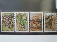 Zambia 1994 Snakes set of 4 used