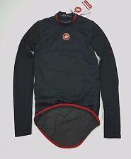 Castelli Feroce Windproof Men's Cycling Long Sleeve Base Layer Black Size XS