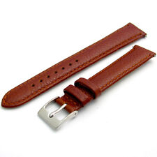 Padded Denver 16mm Watch Strap Band Leather Tan s