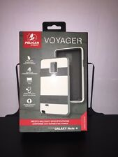 New Pelican Progear Voyager Case for Samsung Galaxy Note 4 W/holster - White
