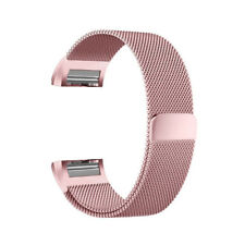 Rose Gold Magnetic Loop Strap Stainless Steel Wrist Band For Fitbit Charge 2