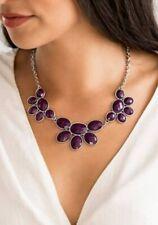 Necklace W/Matching Bracelet Paparazzi Flair Affair Purple