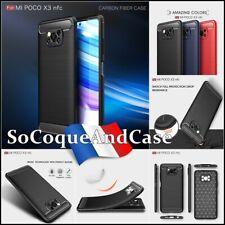 Etui Coque Housse Silicone Carbon Fiber Brush soft TPU Case Cover XIAOMI Poco X3