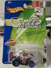 Hot Wheels Speed Demons Grand Prix Pull 'em Back (no batteries needed) Chrome