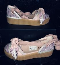 FINAL REDUCTION Customised Crystal  Puma X Fenty Creeper Ballet Lace Rihanna 5